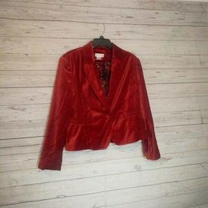 Worthington Women's Blazer Size 16 Red Suede